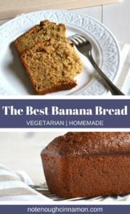 Pinterest graphic of banana bread