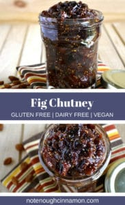 Pinterest graphic of fig Chutney