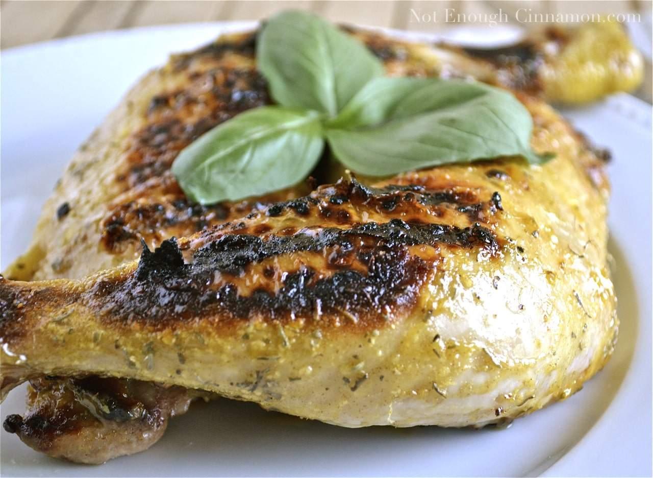 Honey Mustard Grilled Chicken - Not Enough Cinnamon
