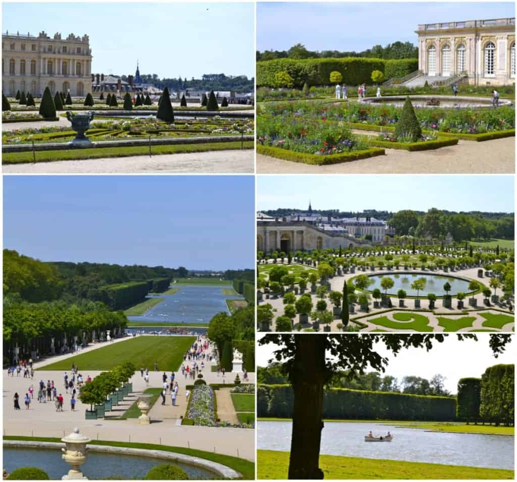 pictures of Versailles palace and palace garden on a glorious summer day