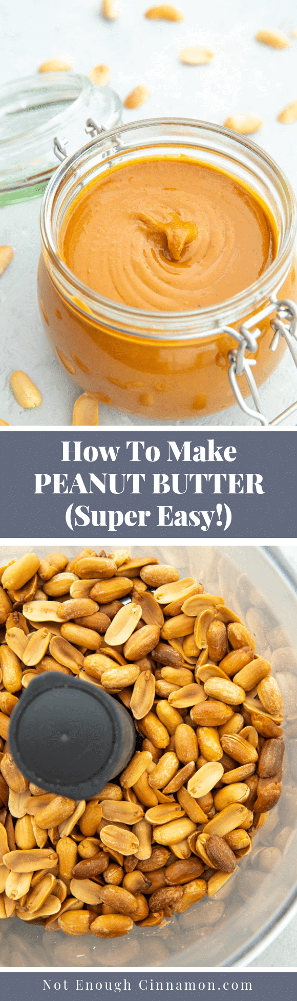 Learn how to make peanut butter at home from scratch with this easy step-by-step tutorial. You only need peanuts and a food processor. No oil, no sugar, no nasties! Naturally vegan, low carb and gluten free.