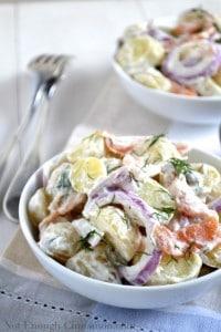 Smoked Salmon Potato Salad with a Creamy Dill Dressing