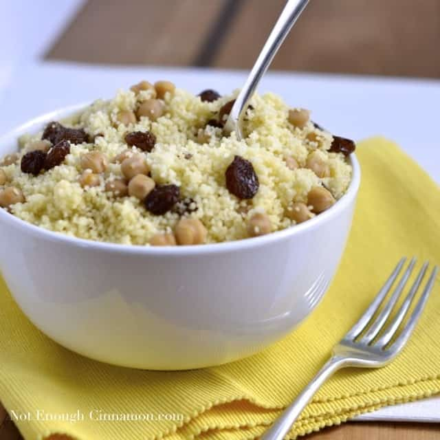 Couscous with Chickpeas and Raisins