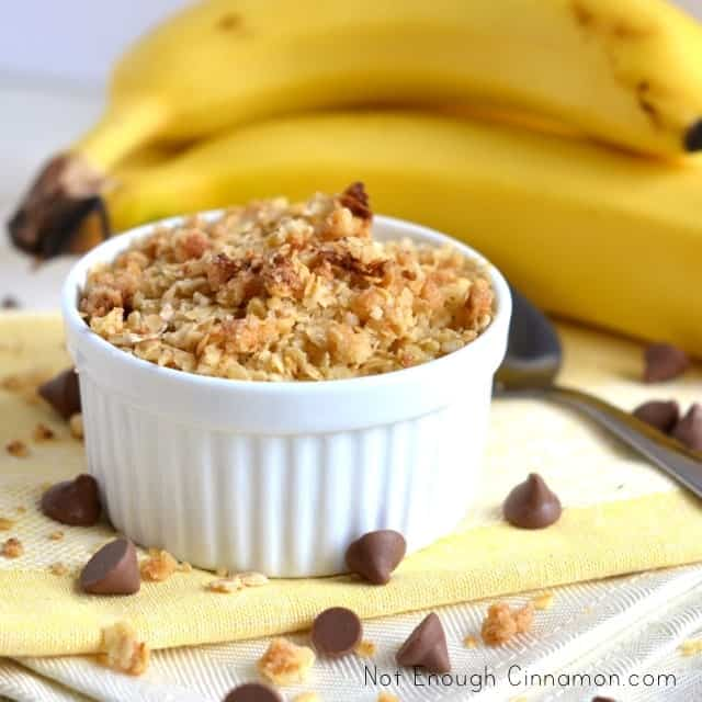 Banana Chocolate Chips Crisp