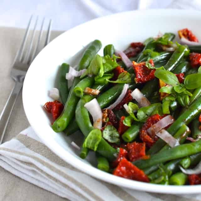 Green Bean Salad with Sun Dried Tomatoes and Basil2
