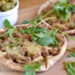 Quick Turkish Pizza with Pita Bread