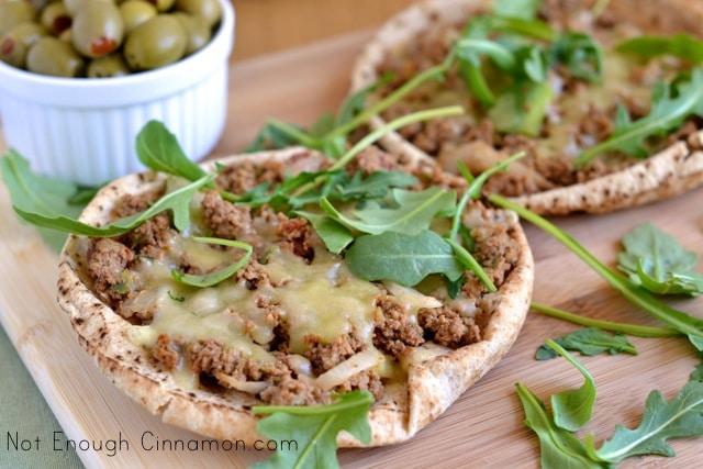 Quick Turkish Pizza with Pita Bread