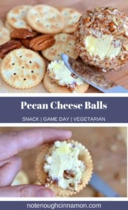 Pinterest graphic of cheese balls