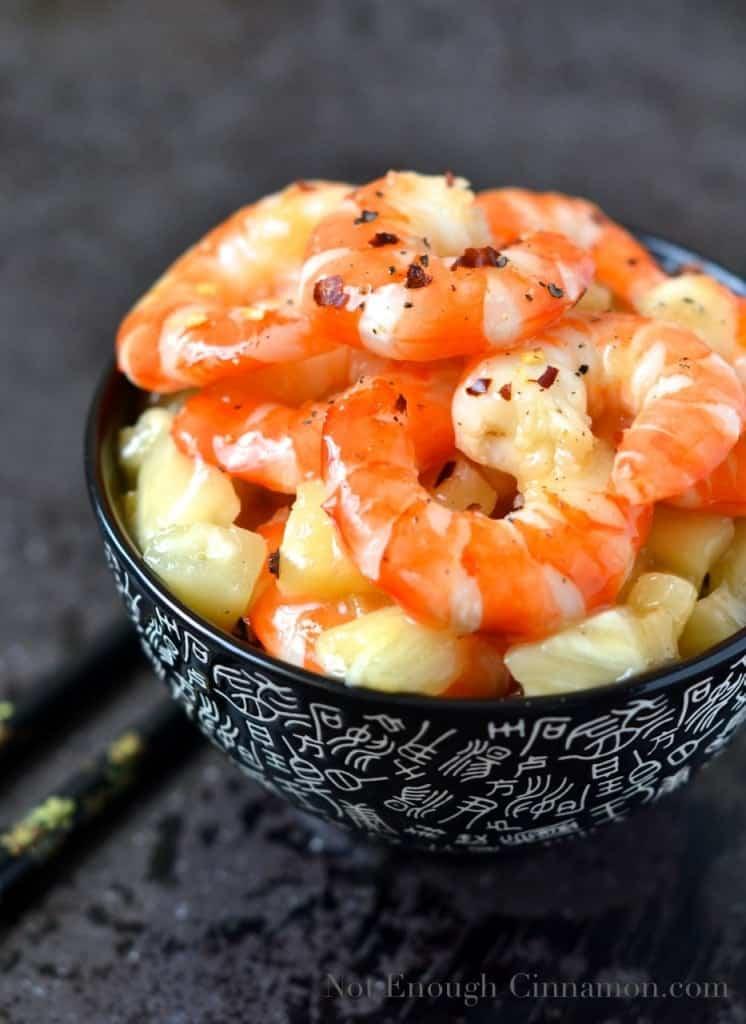 Honey-Pineapple Glazed Shrimps