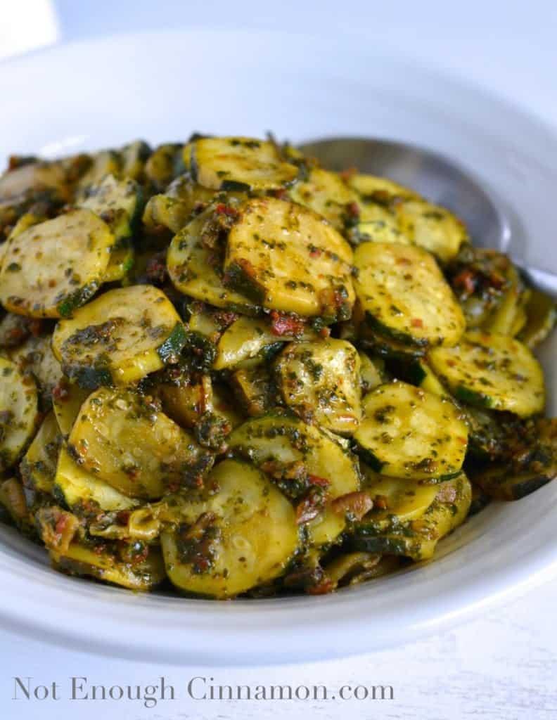 Lemon and Pesto Zucchini