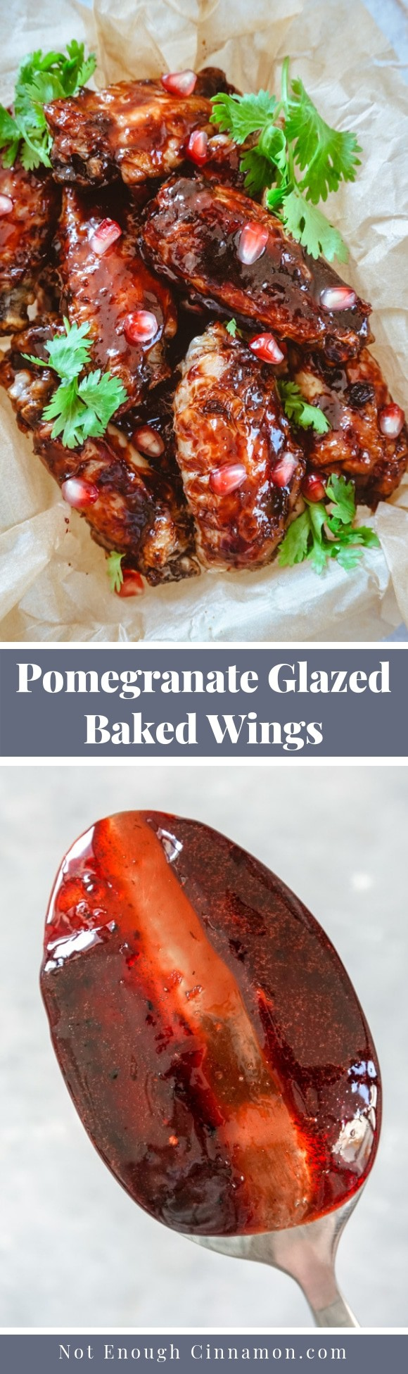 Baked Chicken Wings With Pomegranate Glaze