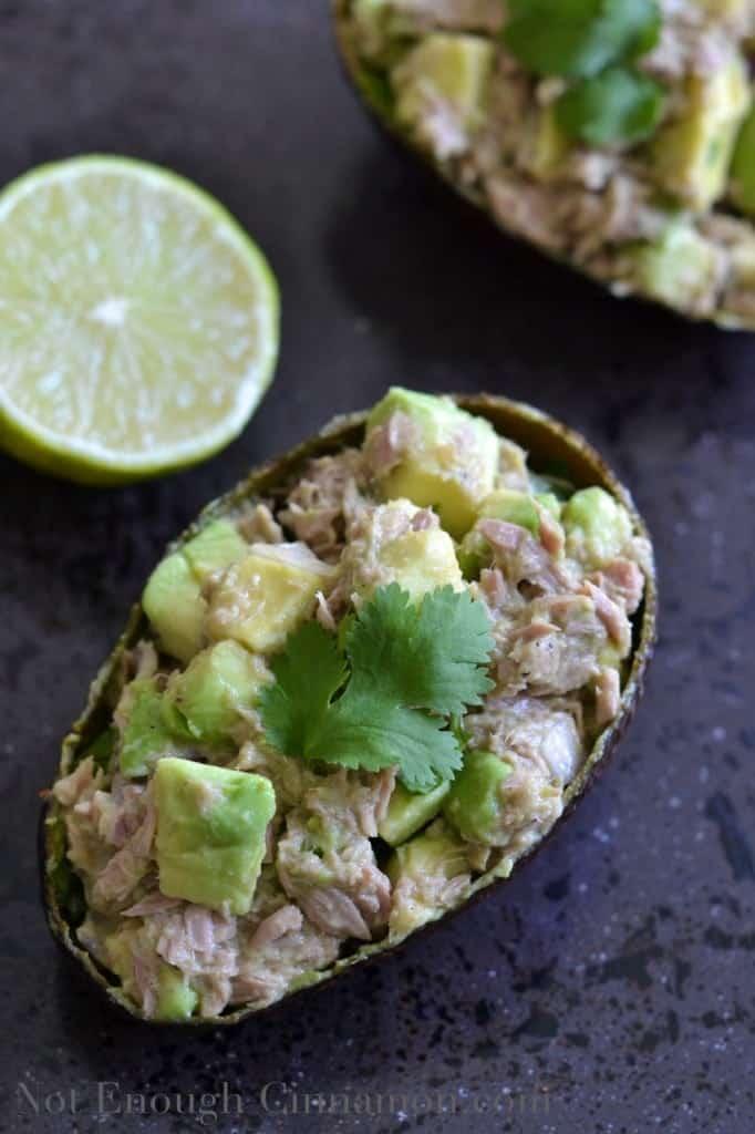 Tuna Avocado Boats