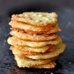 Parmesan Chips with Oregano and Pine Nuts