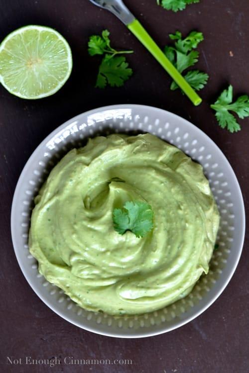 Creamy Avocado Dip - NotEnoughCinnamon.com
