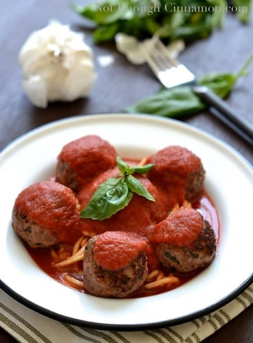 Paleo Meatballs with Basil and Sun-Dried Tomatoes - NotEnoughCinnamon.com