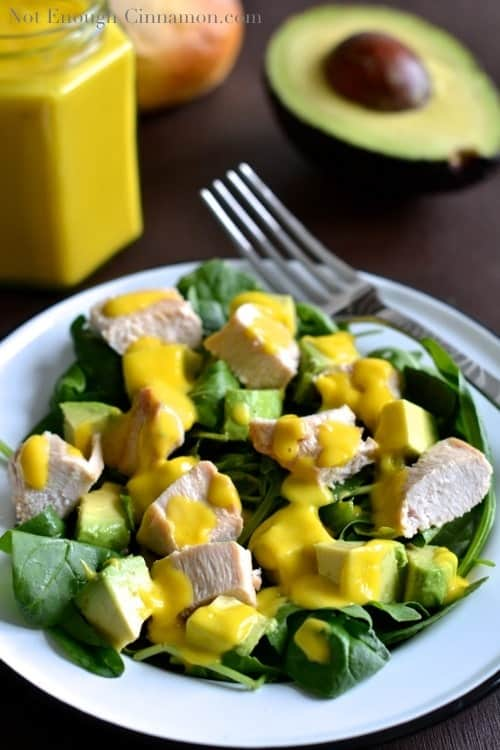 Grilled Chicken and Avocado Salad with Mango Dressing - NotEnoughCinnamon.com