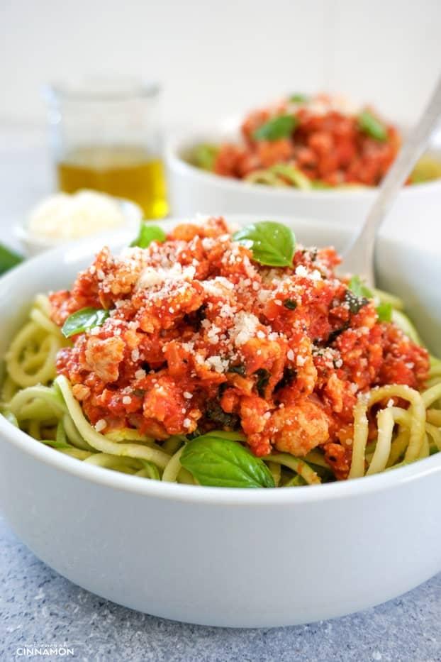 Zucchini pasta recipe sauce