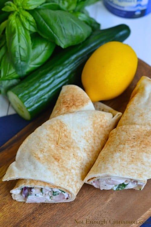 Healthy Greek Chicken Wraps