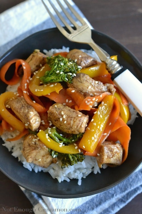 5-Spice Chicken with Vegetable Stir-Fry - www.notenoughcinnamon.com