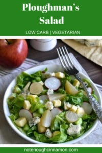 Pinterest graphic of Ploughman's Salad