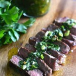 Steak with Chimichurri Sauce - Pin