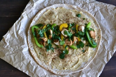 Grilled Chicken and Hummus Wraps – Step by step - www.notenoughcinnamon.com