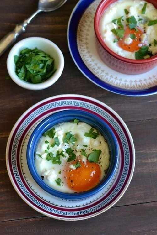 Moroccan Baked Eggs with Tomato and Spinach - www.notenoughcinnamon.com @NECinnamon #recipe #eggs #healthy