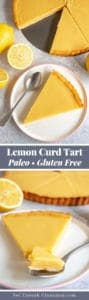 A slice of paleo lemon curd tart