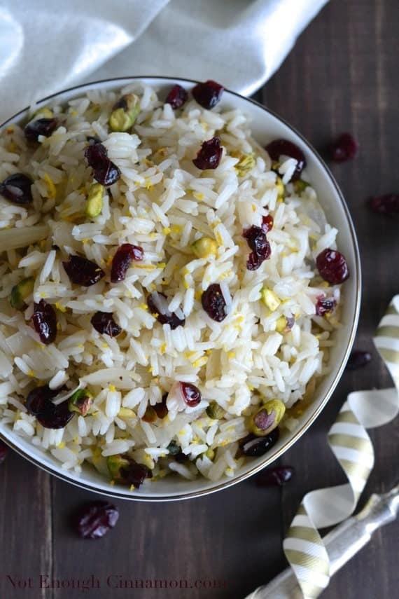 Cranberry and Pistachio Rice - Not Enough Cinnamon.com1