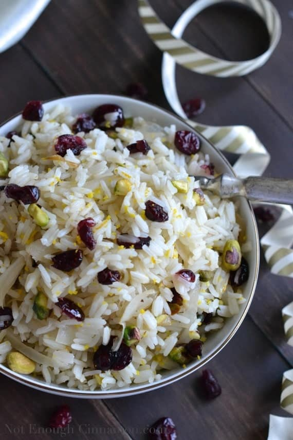 Cranberry and Pistachio Rice - Not Enough Cinnamon.com