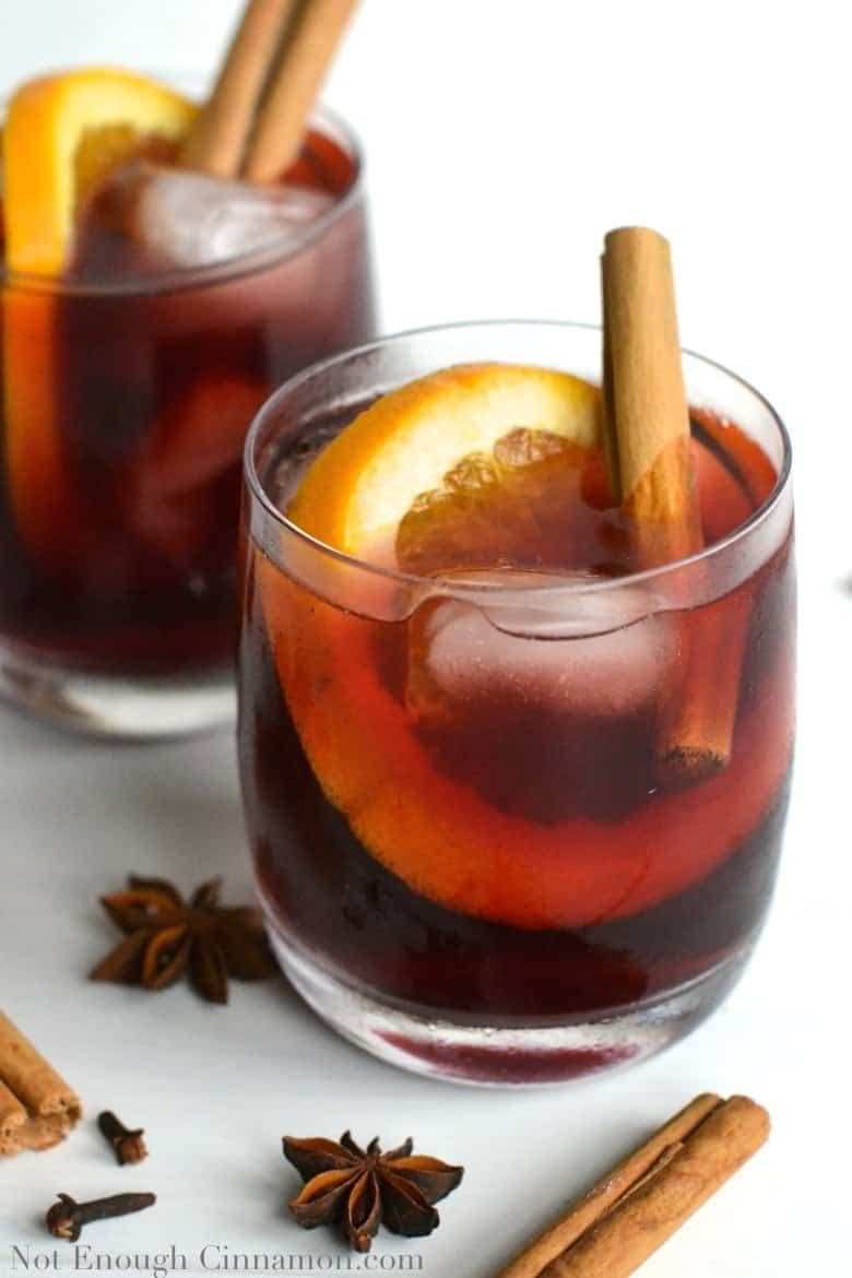 Mulled Wine Virgin Cocktail {Refined Sugar Free} - NotEnoughCinnamon.com