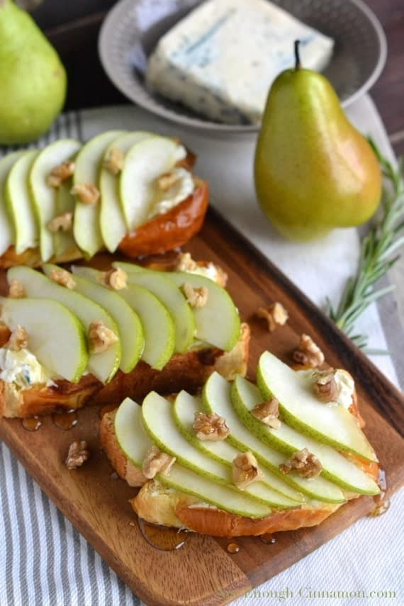 Pear and Gorgonzola Brioche Toast - NotEnoughCinnamon.com