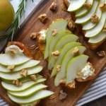 Pear and Gorgonzola Brioche Toast - NotEnoughCinnamon.com