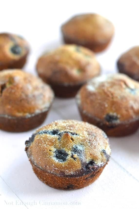 Healthy Blueberry Muffins - NotEnoughCinnamon.com