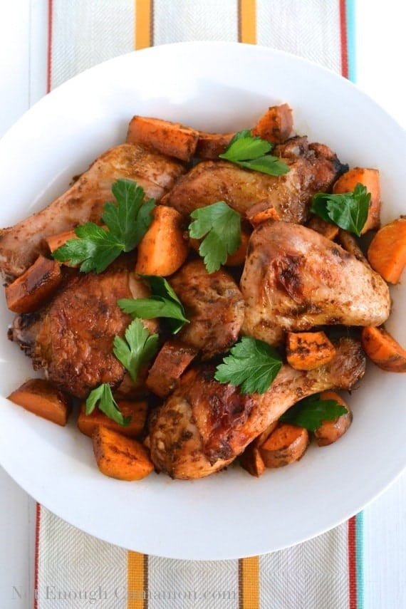 Moroccan Chermoula Roasted Chicken - NotEnoughCinnamon.com
