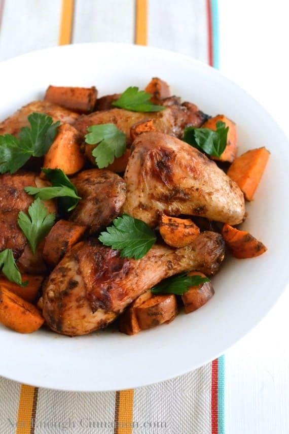 Moroccan Chermoula Roasted Chicken - NotEnoughCinnamon.com