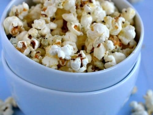 Blue Cheese and Parmesan Popcorn