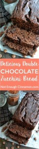 A rich chocolate treat that's actually healthy and gluten free? Look no further, this double chocolate zucchini bread is for you! You will never guess there are veggies hidden in this delicious dessert! - Find the recipe on NotEnoughCinnamon.com
