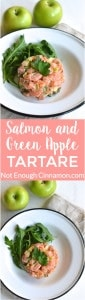 Salmon and Green Apple Tartare - a delicious appetizer recipe made with raw salmon and granny smith apple #glutenfree