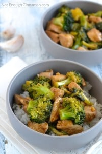 Chicken and Broccoli Stir-Fry - A quick, easy and healthy meal, perfect for dinner - Recipe on NotEnoughCinnamon.com1