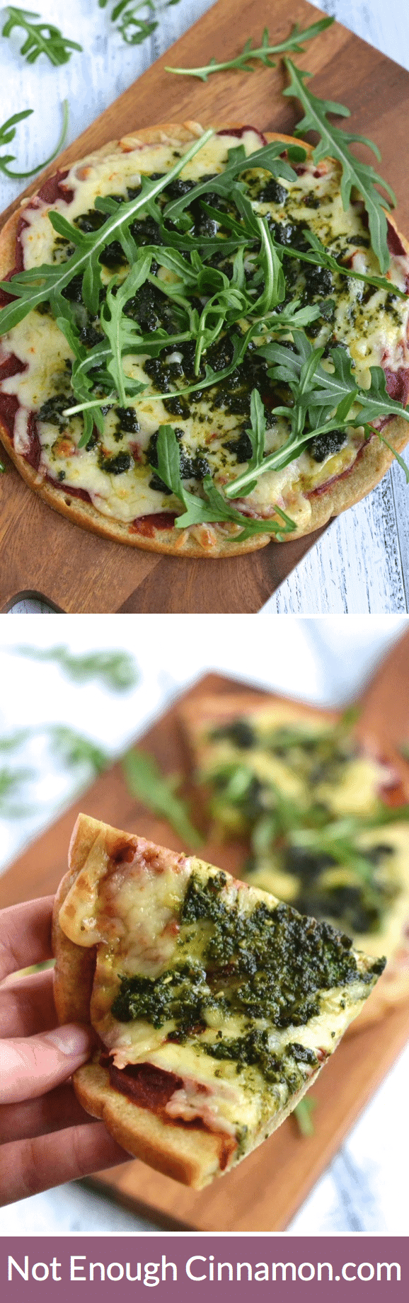 Foolproof quinoa pizza crust made with only 5 ingredients. Gluten free and vegan. | Find the recipe on NotEnoughCinnamon.com