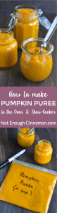 Learn how to make homemade pumpkin puree in the oven or in the slow-cooker with this easy recipe. Tastier and cheaper than canned pumpkin + perfect if your store is out of stock!
