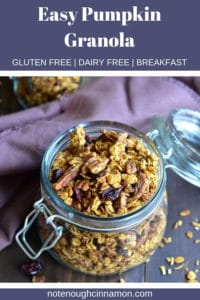 pinterest graphic of pumpkin granola