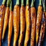 A simple recipe for balsamic roasted carrots, perfect as a side dish for Thanksgiving and the holidays!   Find the recipe on NotEnoughCinnamon.com