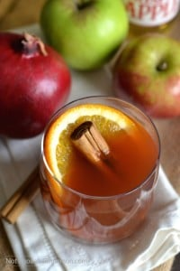 A warm and comforting drink, perfect for when it's cold outside! | Find this easy recipe on NotEnoughCinnamon.com #holidays #thanksgiving #christmas