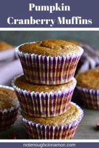 pinterest Pumpkin Cranberry Muffins