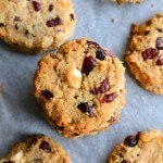 Paleo Macadamia Cranberries Cookies - Gluten free, sugar free and dairy free - Perfect for the holidays and Christmas!   Find the recipe on NotEnoughCinnamon.com
