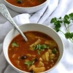 A comforting winter soup loaded with veggies | Find the recipe on NotEnoughCinnamon.com #healthy #glutenfree #vegetarian #vegan1