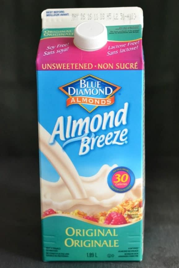 a carton of blue diamond almond milk