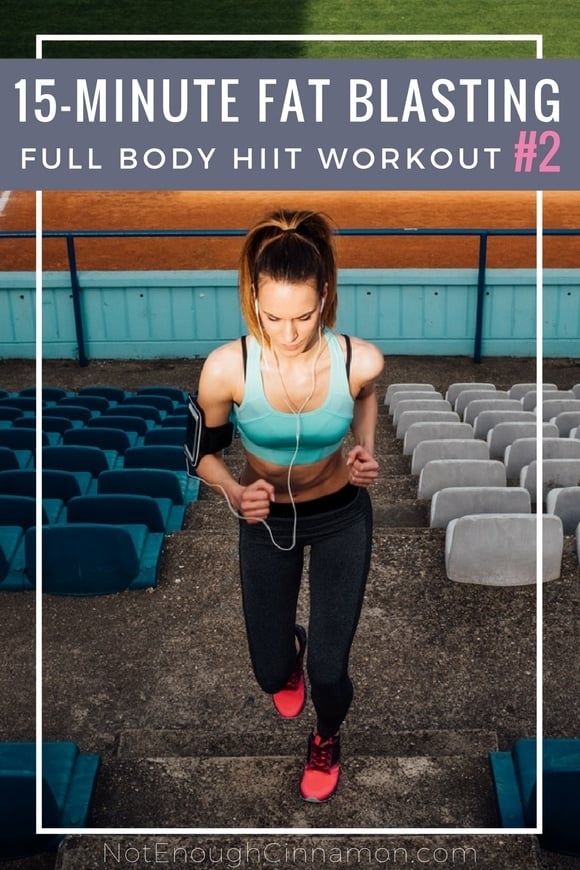 15-Minute Fat Blasting Full Body HIIT Workout #2